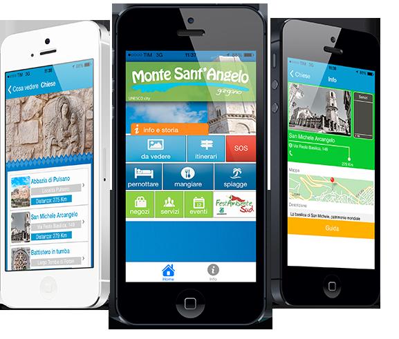 App Monte Sant'Angelo - immagini dell'applicazione